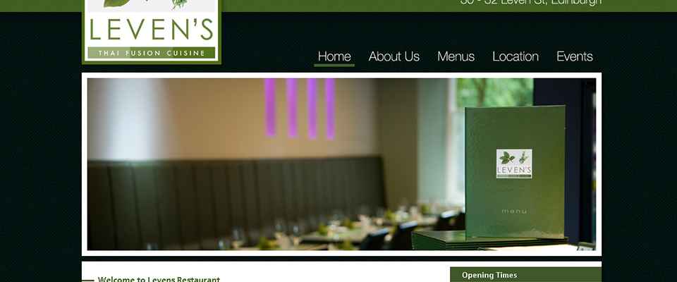 Levens restaurant website