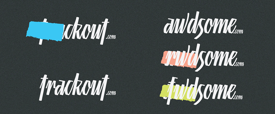 Trackout logo concepts